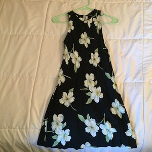 Vintage Black Floral Dress